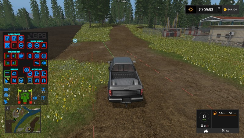 GPS HUD Color Mod V 3 0 LS17 - Farming simulator 17 / 2017 mod