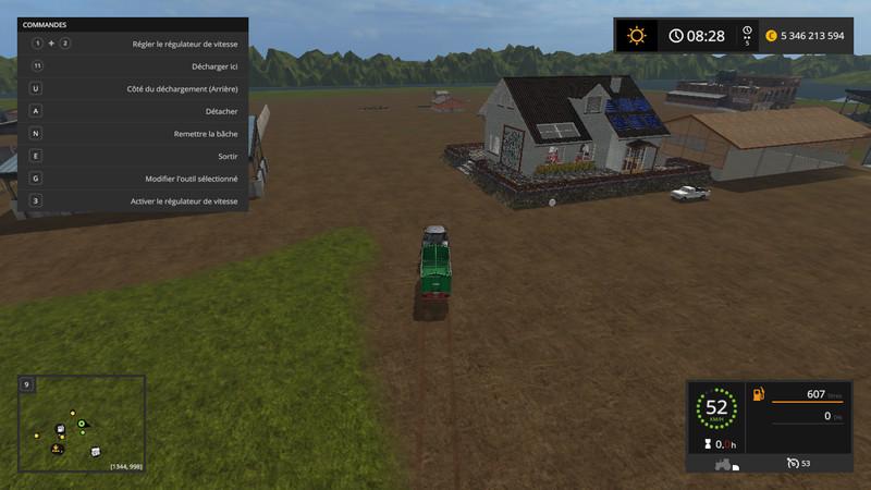 minimap land v 1 2 fs17 farming simulator 17 2017 mod. Black Bedroom Furniture Sets. Home Design Ideas