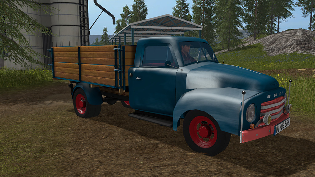 opel blitz flatbed 1956 truck   2017 mod