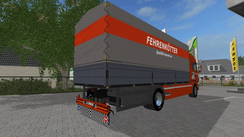 Scania R730 with tarpaulin in Fehrenkötter Skin V 1 TRUCK