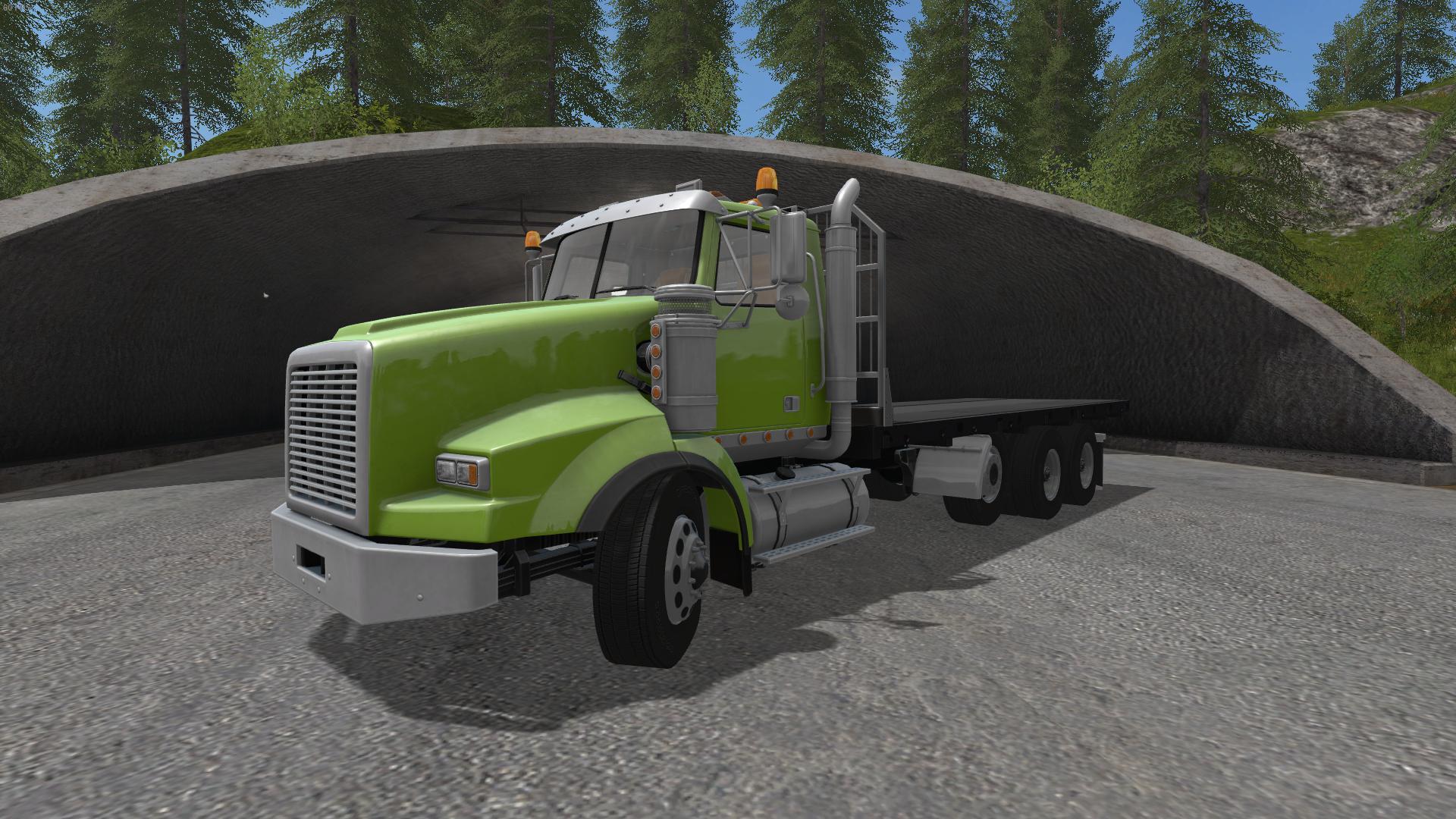 Tri Axle Flatbed : Bbm tri axle flat bed truck v mod farming
