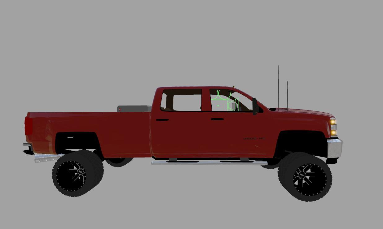 chevy silverado 3500hd duramax v1 0 ls17 farming simulator 17 2017 mod. Black Bedroom Furniture Sets. Home Design Ideas