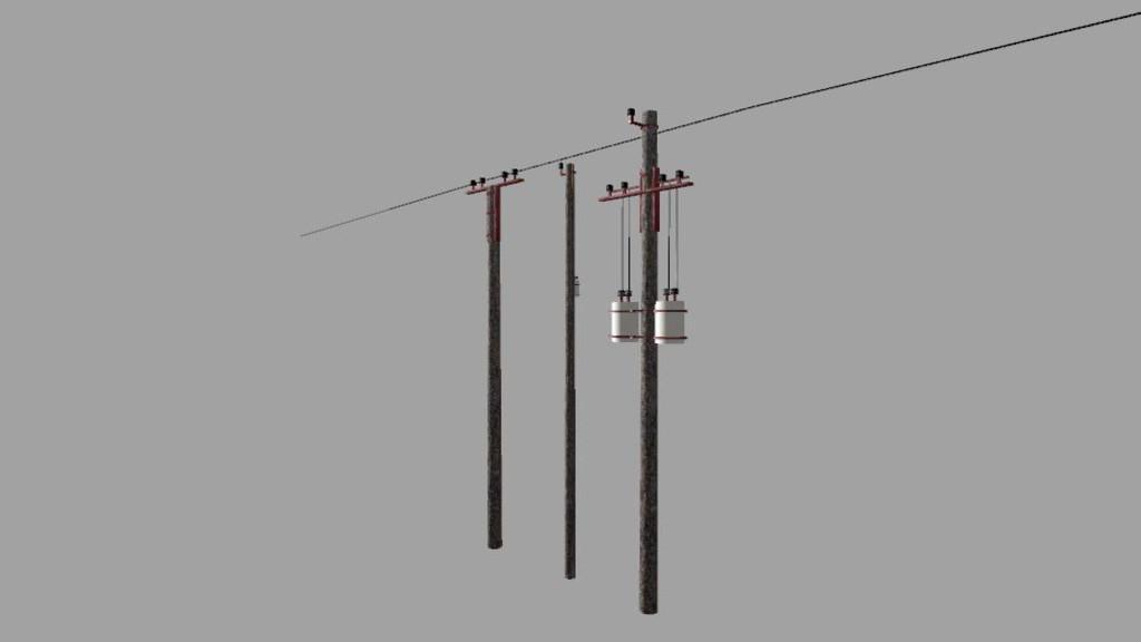 electricity poles  prefab  v1 0 0 0 ls17