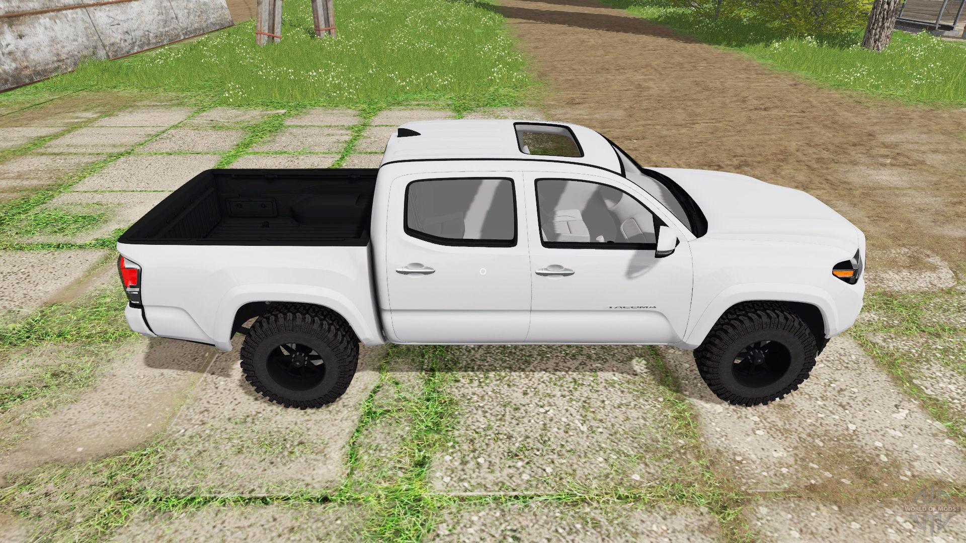 toyota tacoma double cab 2016 fs17 farming simulator 17 2017 mod. Black Bedroom Furniture Sets. Home Design Ideas