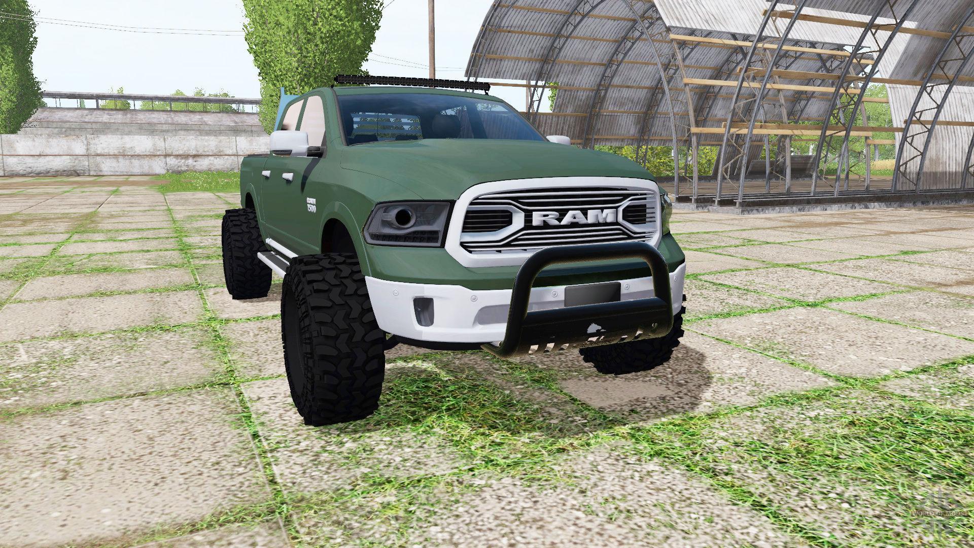 dodge ram 1500 crew cab v1 0 fs17 farming simulator 17 2017 mod. Black Bedroom Furniture Sets. Home Design Ideas