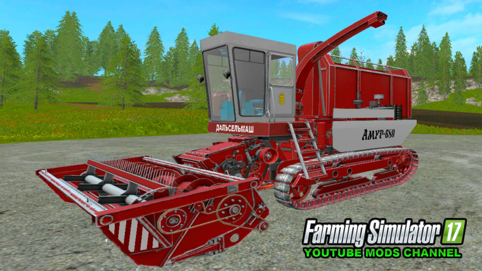 ROSTSELMASH AMUR 680 FS17 - Farming simulator 17 / 2017 mod
