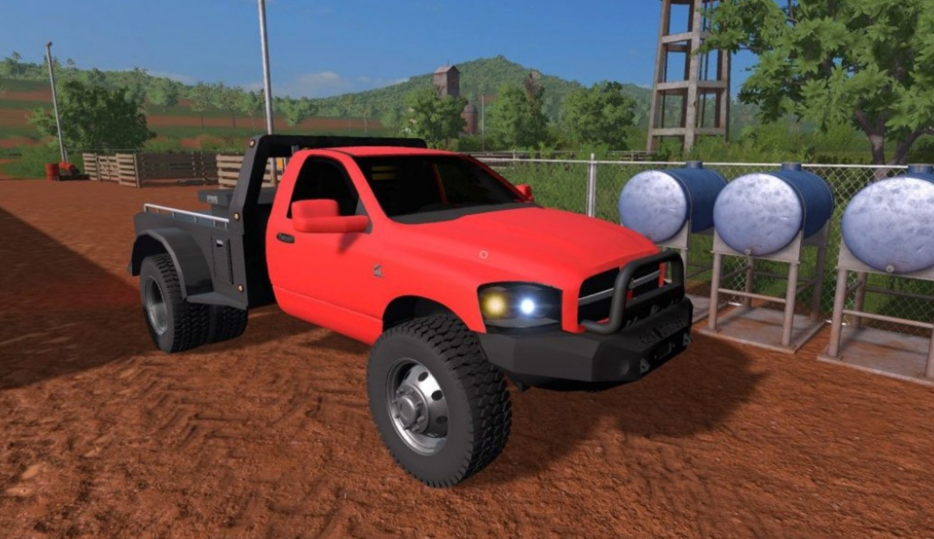 2008 Dodge Ram Flatbed v 1 0 FS17 - Farming simulator 17