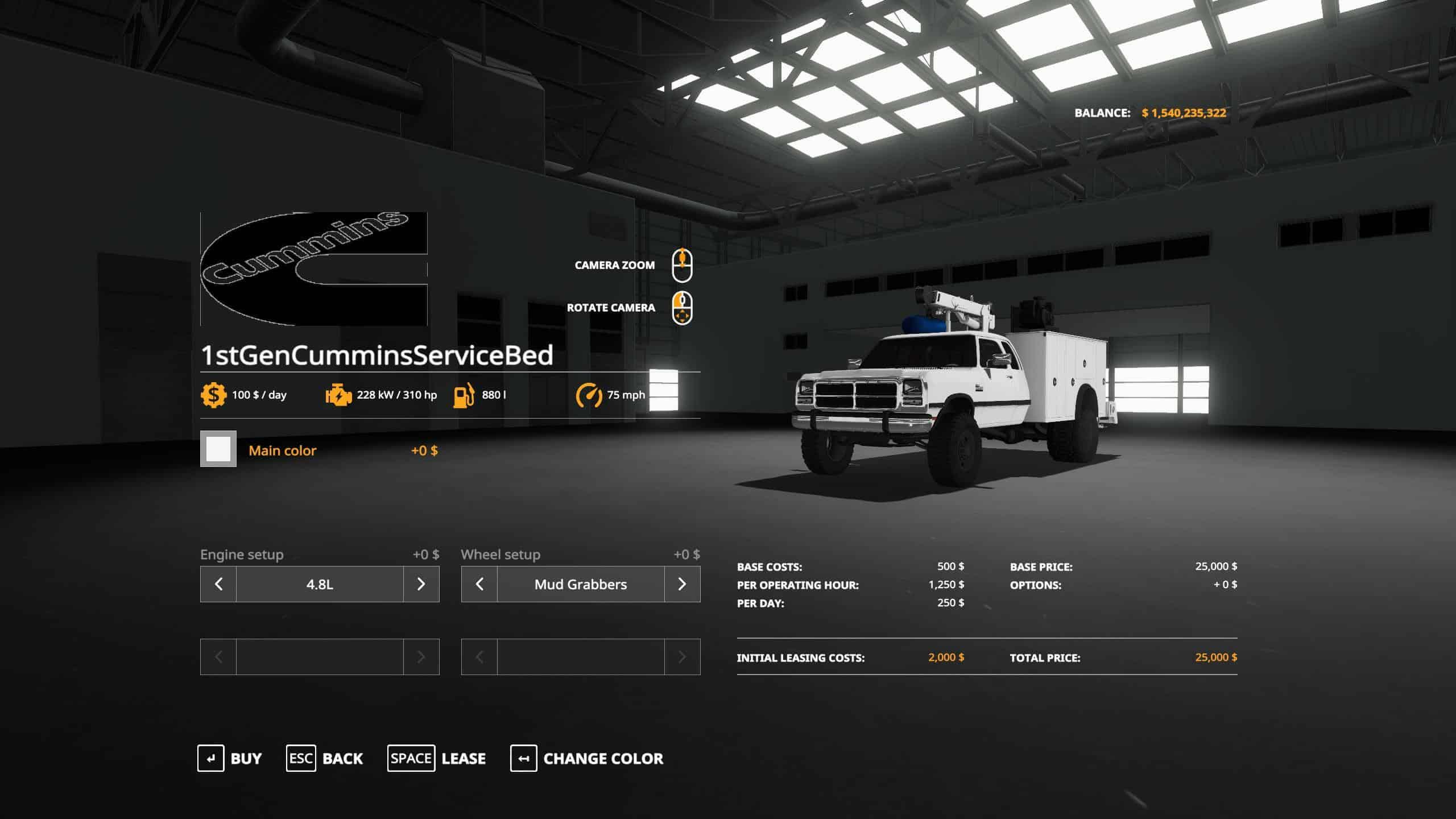 1st Gen Cummins Service Bed v2 0 Mod - Farming simulator 17