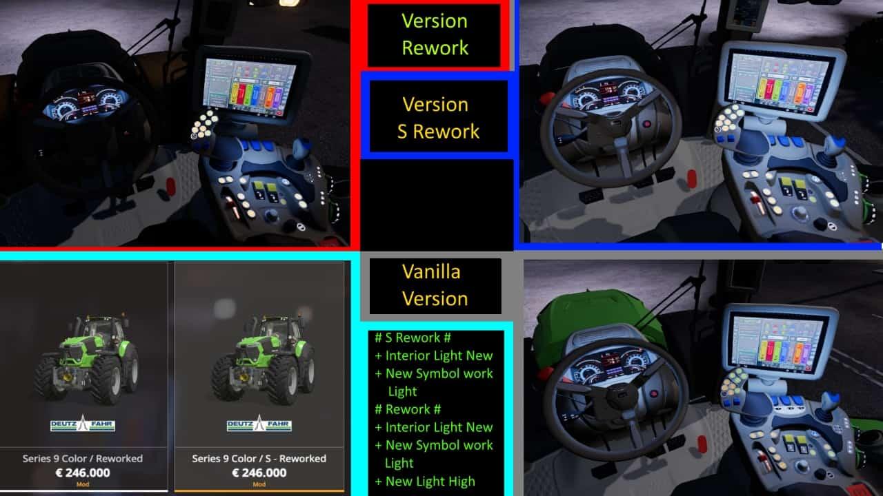 Deutz Fahr Serie 9 Color S Rework 1 0 0 0 Ls19 Farming Simulator