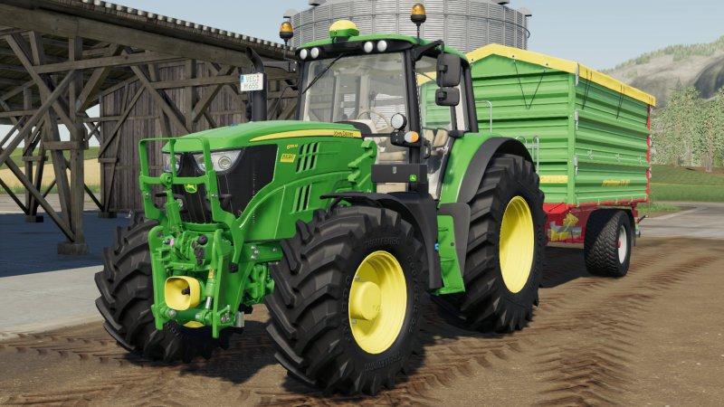 John Deere 6M v1 0 0 0 Combine Mod - Farming simulator 17 / 2017 mod