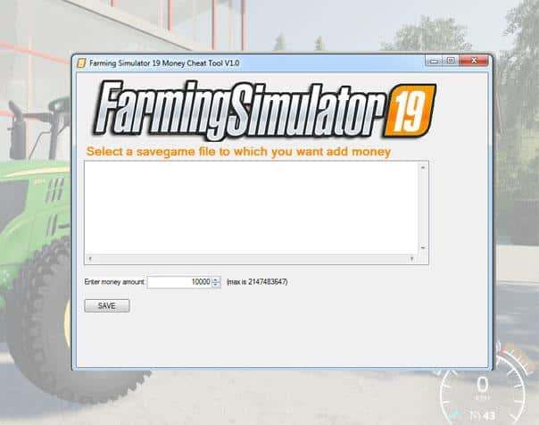 Money Cheat Tool v1 0 FS 19 - Farming simulator 17 / 2017 mod