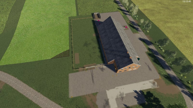 Yard with cowshed and willow beta 1 0 0 LS 19 - Farming
