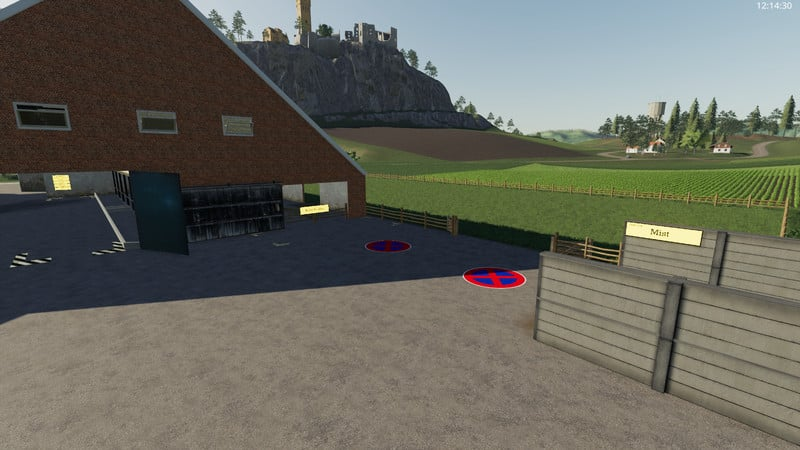 Yard with cowshed and willow beta V 1 0 FS 19 - Farming simulator 17