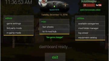 Dashboard v1 1 FS 19 - Farming simulator 17 / 2017 mod