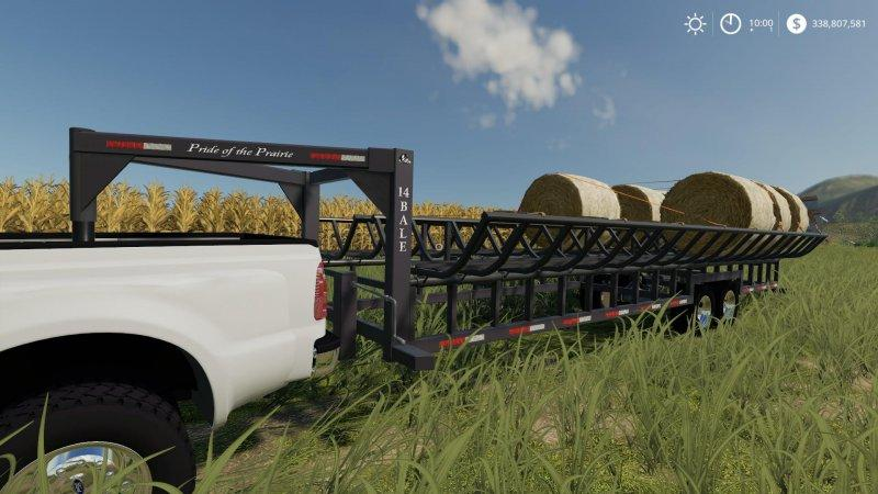 Prarie Bale Trailer v1 0 0 0 FS19 - Farming simulator 17