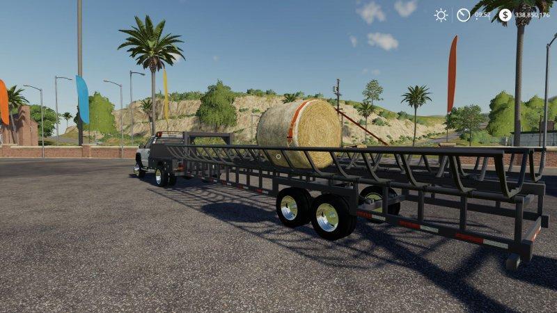 Prarie Bale Trailer v1 0 0 0 FS19 - Farming simulator 17 / 2017 mod