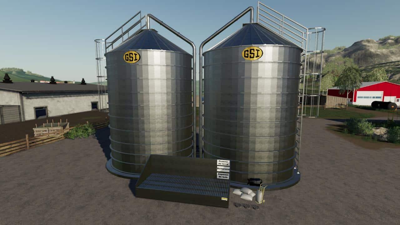 Silo GSI v1 0 0 0 LS19 - Farming simulator 17 / 2017 mod