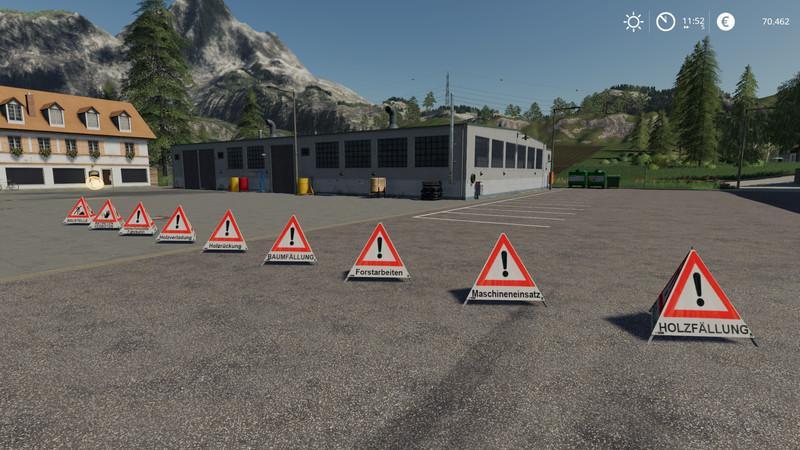 Forest pyramid warning sign v1 0 FS 19 - Farming simulator