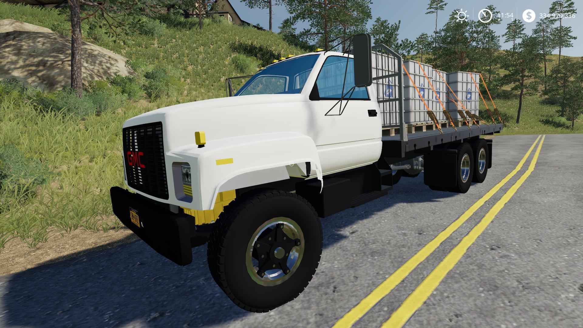 GMC Flatbed v1 0 0 0 Truck FS19 - Farming simulator 17 / 2017 mod