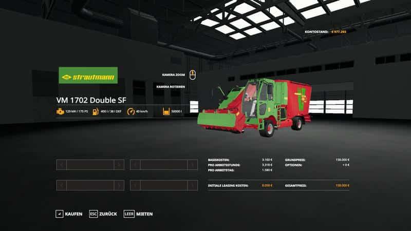 Strautmann VM 1702 Double SF v1 0 0 0 FS19 - Farming simulator 17