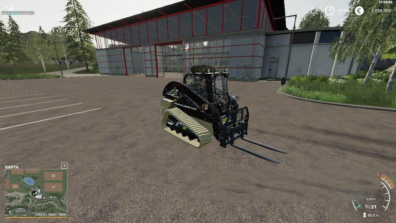 Cat C232 Army v1 0 0 0 FS19 - Farming simulator 17 / 2017 mod