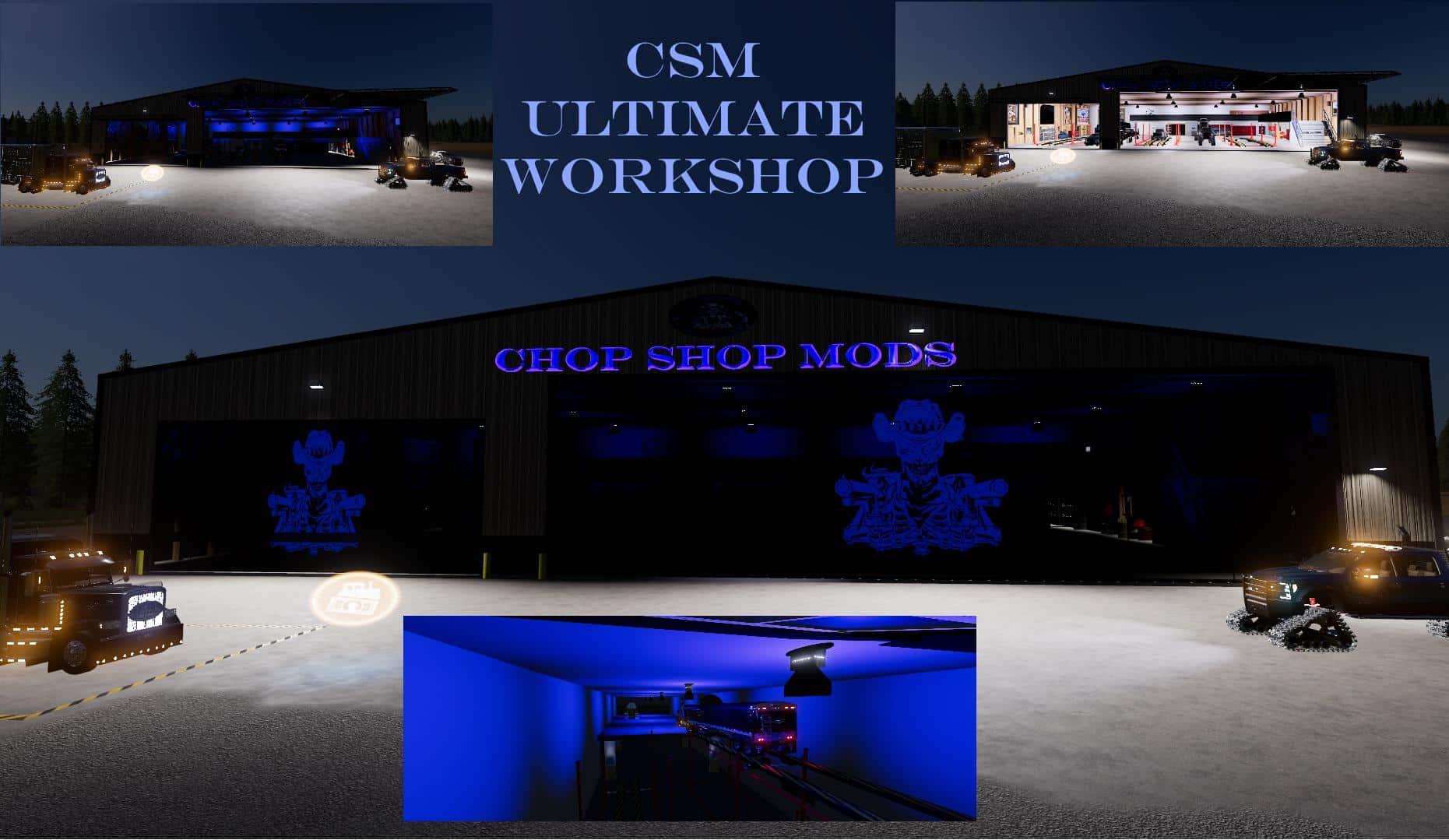 Chop Shop Mods CSM ULTIMATE WORKSHOP v1 0 10 FS 2019