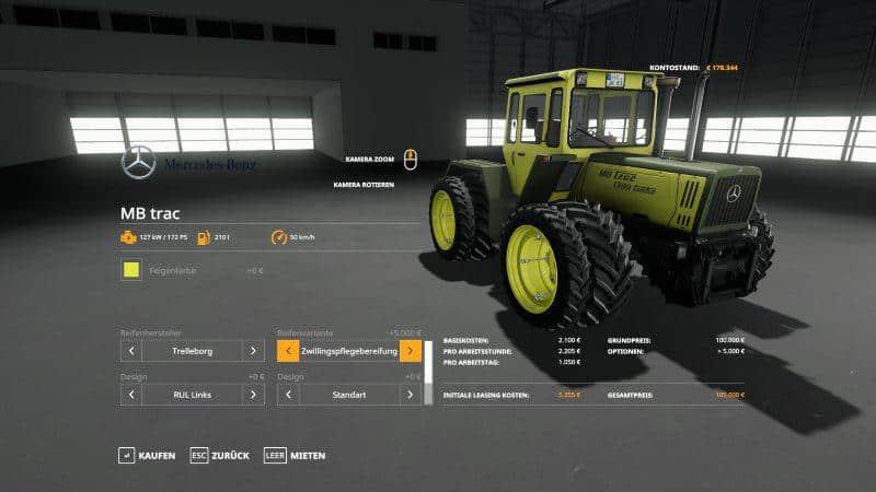 MB Trac 1300 - 1800 UPDATE v1 4 0 0 LS 19 - Farming