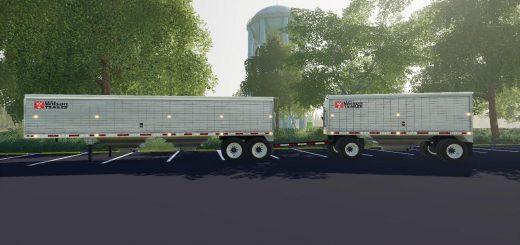 Fliegl flatbed Roundbale autoload v1 0 0 3 FS19 - Farming simulator